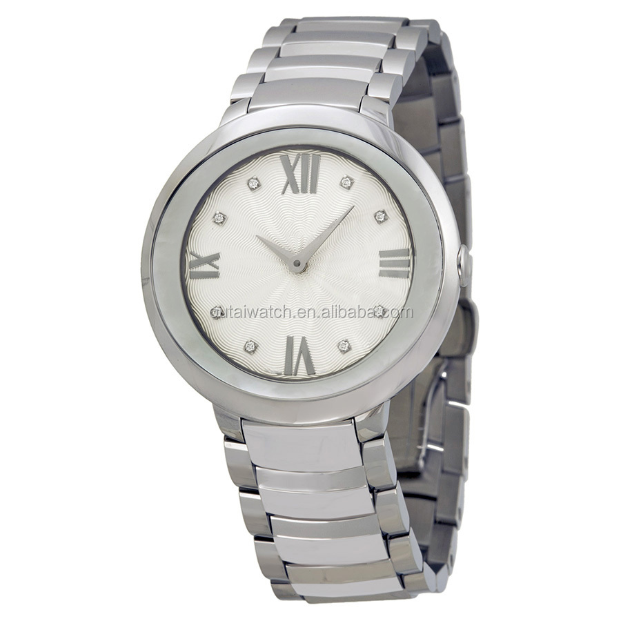 mechanical watch with stainless steel watch case for lady