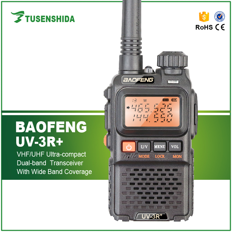 Handheld Baofeng UV-3R+ digtal Mobile Walkie Talkie 136-174/400-520 MHz hf FM ham police Two Way Radio