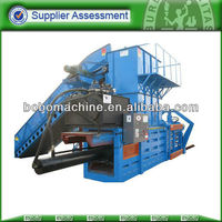 Hydraulic straw press baler