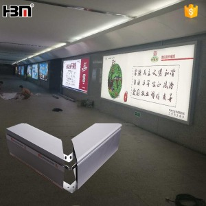 flip open snap aluminum frame large advertisement billboard colorful wearable fabric lightbox for packing lot