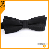 Polyester Dobby Black Color Cheap Price Best Men Suit With Bow Tie