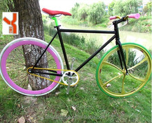 chopper mixed color and style rims fixed gear bike for men