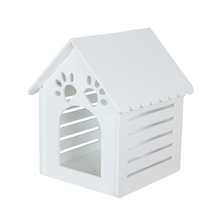 Fashion design made to order unique dog kennels dog house with pvc door high quality dog house designs