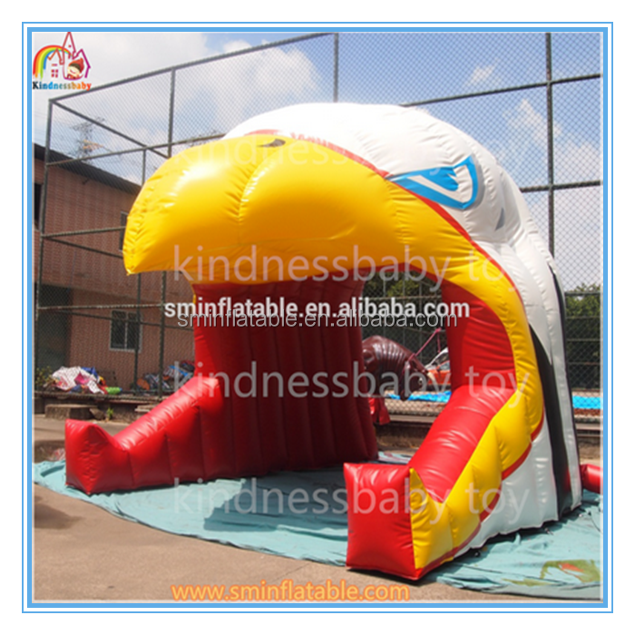 Factory price inflatable eagle head tent,giant inflatable eagle tunnel for sale
