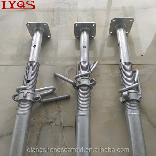 HDG Powder Coated High Quality Telescopic Support Pole Adjustable Shoring Jack Post Shore for Falsework Construction