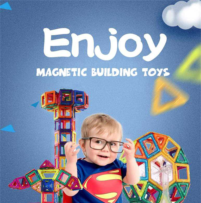 High quality wholesale magnetic building blocks toy new design mag wisdom