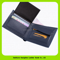 Guangzhou Handmade leather wallet anti-theft alarm custom rfid blocking genuine leather men's wallet wholesale 15624