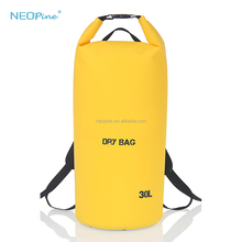 Dropshipping Lightweight Portable Outdoor Sport 10L 20L 30L PVC Waterproof Dry Bag with Dual Shoulder Strap for Camping / Hiking