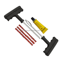 6 PCS Tubeless ATV SUV Motorcycle can passenger Tire Repair Plug Kit Tire Patch Fix Tools Puncture Repair kit