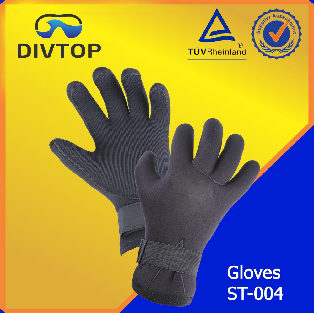 Diving Fabric Neoprene Black Gloves Manufacturer