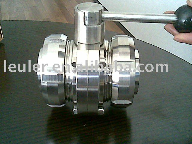 Stainless Steel Sanitary Butterfly Valve with Union