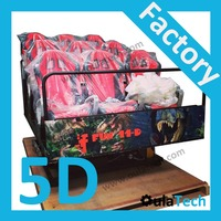 Amazing 5D Cinema 6 DOF Hydraulic Motion Platform Factory with 9 Chairs