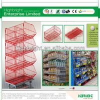 Multi-fonction Four Layers Warehouse Wire Mesh Rolling Metal Storage Cage for Sale