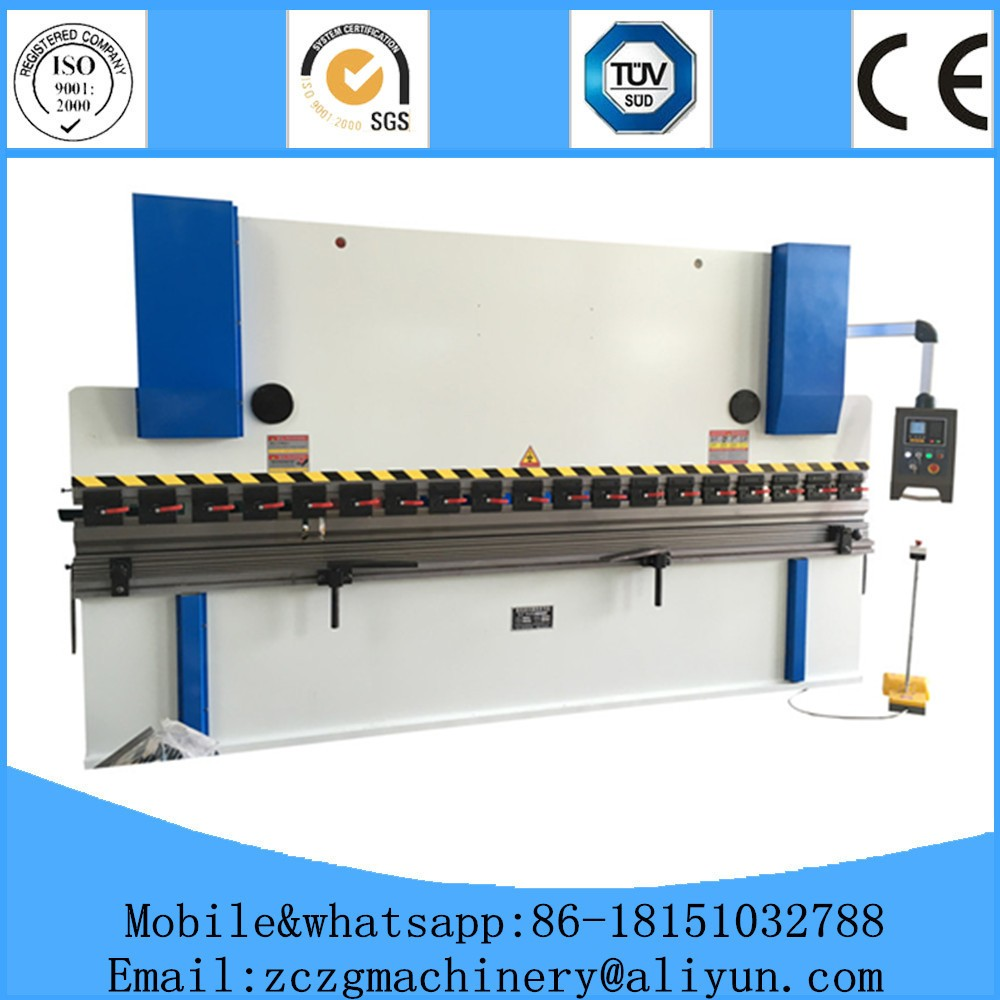 For 2mm steel sheet bending,WC67K-63T3200 hydraulic full automatic steel bending machine price