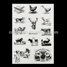 PVC Transparent Stickers With Animals Design