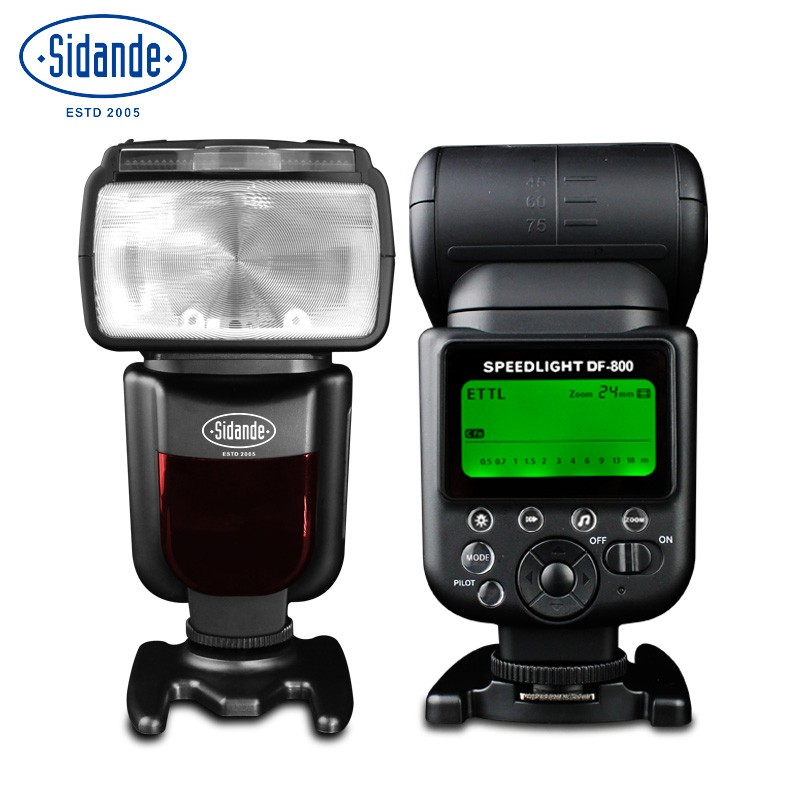 Sidande DF-800 Flash for Canon SLR camera 60D 5D2 / 3 6D 70D TTL High-Speed