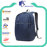 Blue polyester 20 inch laptop sleeve with adjustable shoulder strap