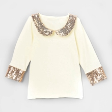 China Supplier One-piece Round Collar Baby loose Clothes Regional Sequin