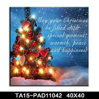 Christmas tree design lighted canvas wall art