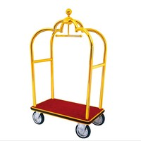 Stainless Steel Luggage Cart For Hotel