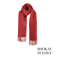 Embroidery Custom Ladies Winter Warm keeping Yak Scarf from China Supplier