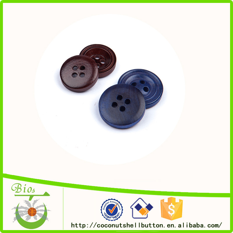 China buttons vendor 18 mm black wooden buttons for upholstery clothing
