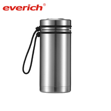 Everich hot water bottle and cover insulated water bottle holder with strap insulated stainless steel hot pot