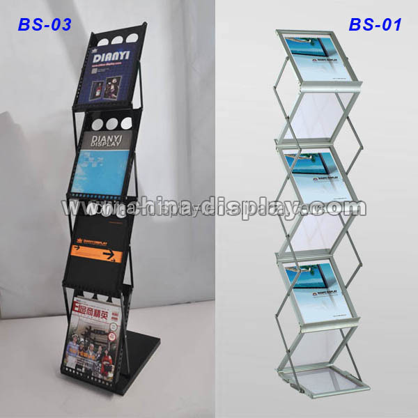 A4 brochure holder acrylic metal magazine rack