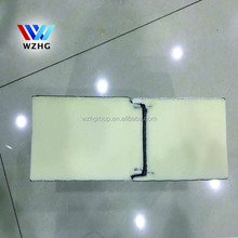 gray steel sheet with rib insulation pu/polyurethane foam sandwich wall panel from china supplier