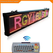 RGY led text message display keyboard indoor, led moving variable message signs board