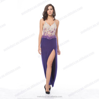 Hot sale wedding purple backless furcal sexy expensive evening dresses