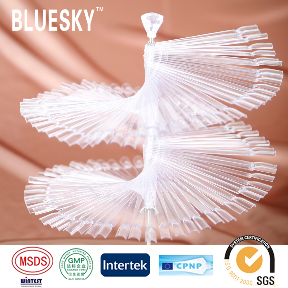 Bluesky nail products fancy natural hyaline fanshaped nail tips