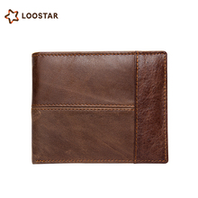 Low MOQ Custom Wholesale Card Wallet Genuine Leather Men Wallet