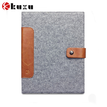 China manufacture for ipad Felt Leather Smart Stand Flip Case Cover 360 Rotating Protector Film