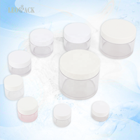 Wholesale Cheap Round Clear Custom Color PETG Container Empty Cosmetic Cream Jar