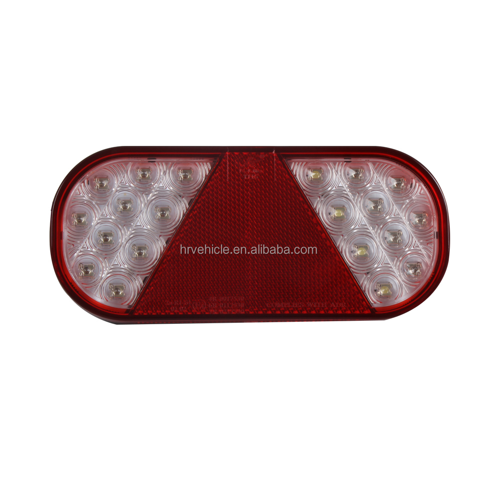 LED tail stop turn signals license plate reflector light lamp for truck trailer