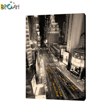 Famous building painting office canvas prints abstract black and white wall art paintings