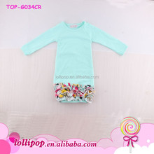 Infant Mint Baby Girls Winter Gowns Sleeping Long Sleeve Icing Ruffle Bottom Gown Baby Christening Gowns Raglan Sleeve Clothing