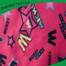 Cheap price train printed fleece fabric with low price