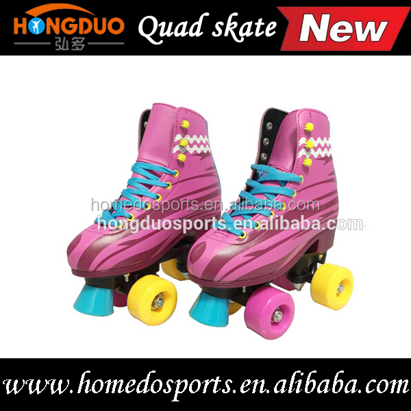 Flash Adjustable Quad 4 Wheels Colorful Roller Skates