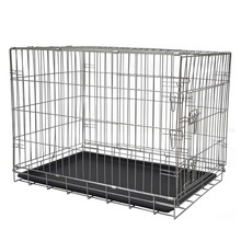 Double Door Metal Steel Crates cheap large decorate iron dog crate