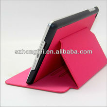 notebook wallet case for iPad mini with auto wake up and sleep function