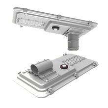 china supplier new products solar led street lights 15w 160Lm/w with microwave motion sensor