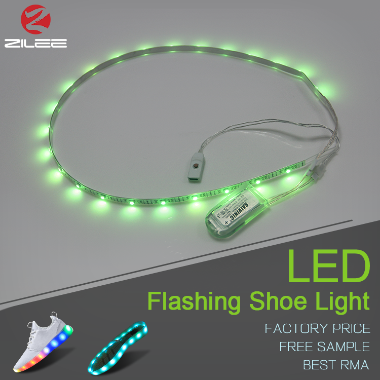 Dimmable multicolored color changing led light bar for tennis shoes, RGB 3528 strip led shoe light