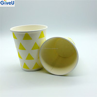 GiveU Hot Selling 7oz Custom Printed Color Single Wall Paper Cups