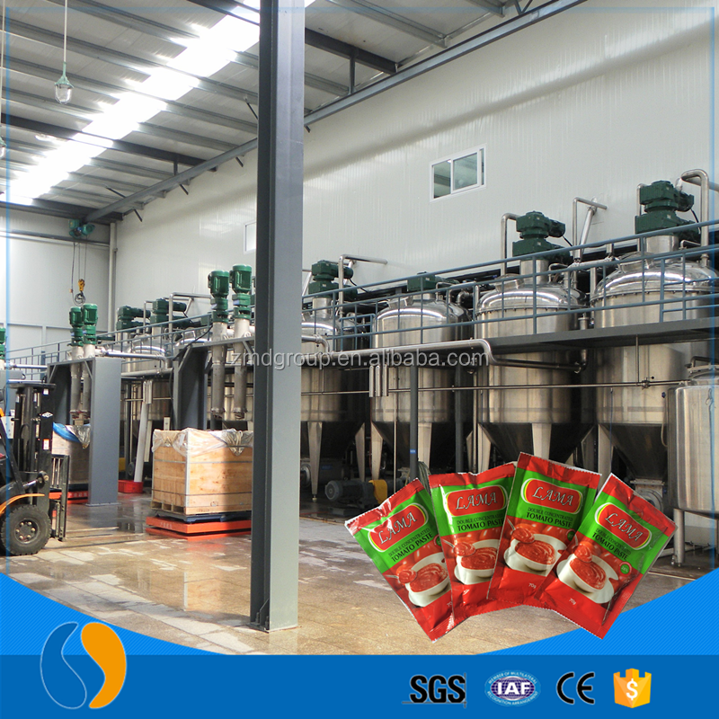 Tomato paste into pizza sauce making machine production line