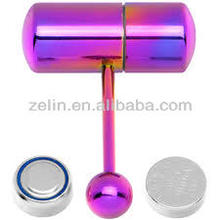 Plated stainless steel wholesale vibrating tongue barbells rings body piercing jewelry