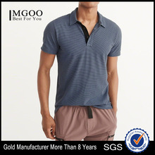 MGOO Sport Wear Pima Cotton Pique Fabric Polo Shirts Quick Dry Button Up Placket Polo