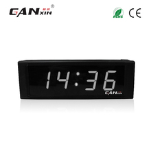 [GANXIN]1 inch 4 digit white mini mosque wall clock electronic number display system