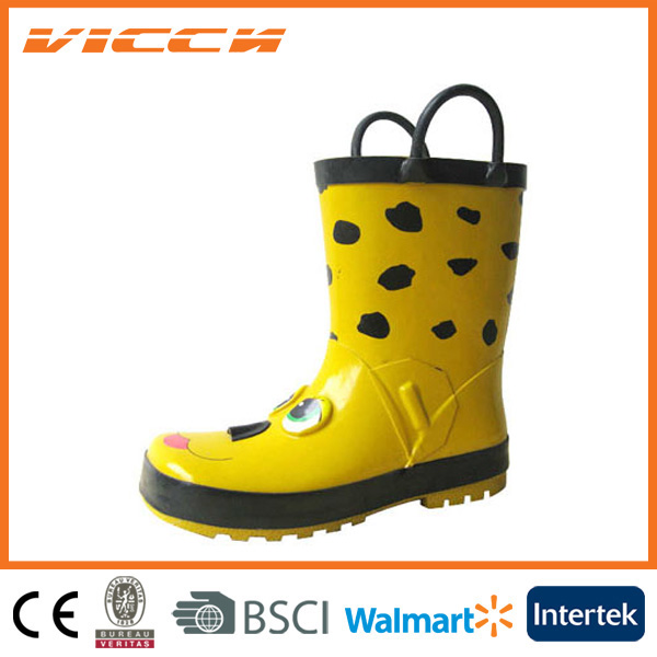 3D dogs sticking with hangers good quality kids rain boots